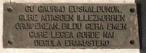 Placa Euskera